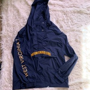 WVU windbreaker with pockets, PINK